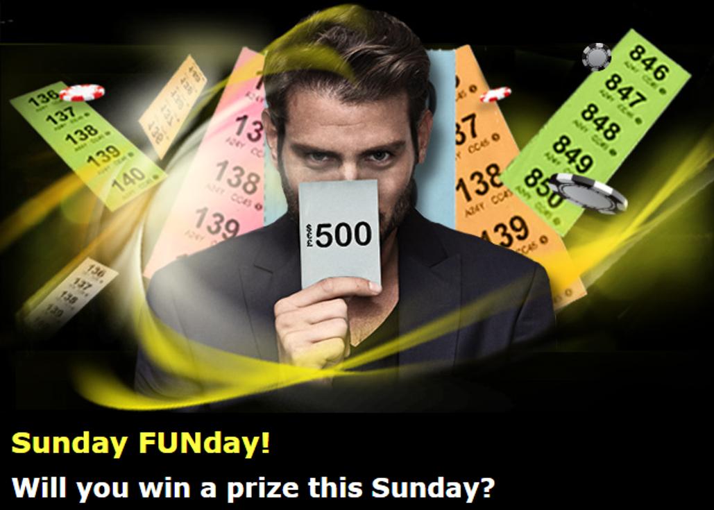 888 Casino Sunday Raffle